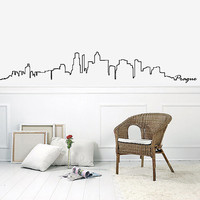 Wall Decal Vinyl Sticker Decals Art Decor Design Skyline Sign Prague Words City Buildings Sides Bedroom Office Dorm (r889)