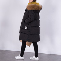 100% Natural Raccoon Fur Collar 2016 Winter Jacket Women White Duck Down Coats Long Thick Parkas Womens Winter Jackets And Coats