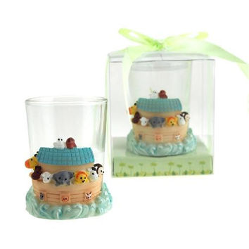 Safari Animals Noah's Ark Candle Holder Favors, 3-Inch