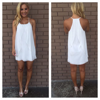 White Drape Dress