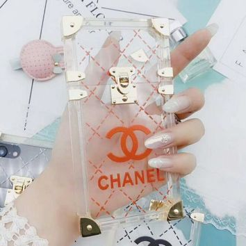 Chanel Trending Stylish Jelly Transparent Crystal iPhone Phone Cover Case For iphone 6 6s 6plus 6s-plus 7 7plus 8 8plus X Red I12269-1