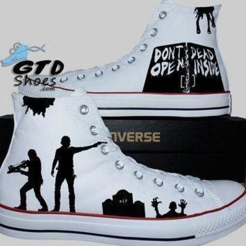 CREYON hand painted converse hi the walking dead rick grimes daryl dixon walkers walkers