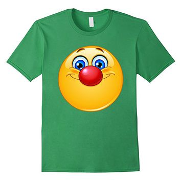 Emoji Shirt Emoticon with clown nose