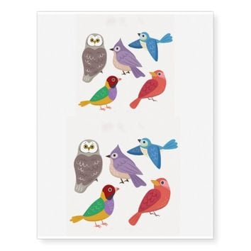 Wild Birds Temporary Tattoos