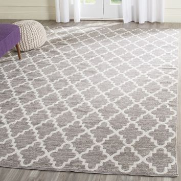 Safavieh Hand-Woven Montauk Grey/ Ivory Cotton Rug (4' x 6') | Overstock.com Shopping - The Best Deals on 3x5 - 4x6 Rugs