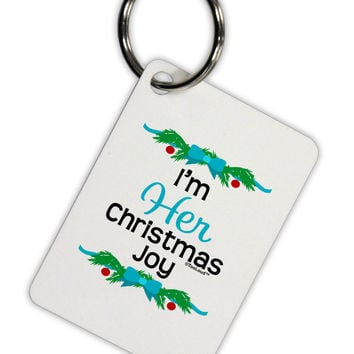 Her Christmas Joy Matching His & Hers Aluminum Keyring Tag