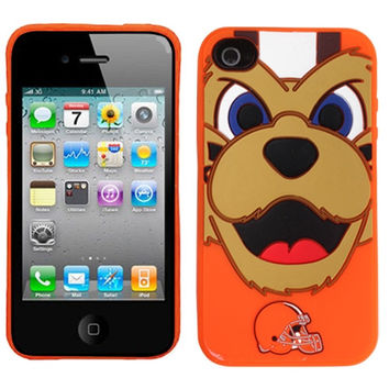 Cleveland Browns Silicone Mascot iPhone 4/4S Cover - Orange