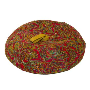 Vintage Sally Victor Beret - Tam, Corduroy Paisley, Hat Size 22