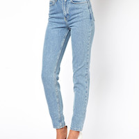 American Apparel Short Leg High Waist Jean