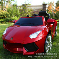 The new Lamborghini children's electric car four-wheel remote control toy car baby can take the swing swing stroller