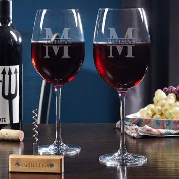 Oakmont Pair of Wine Glasses Gift Set