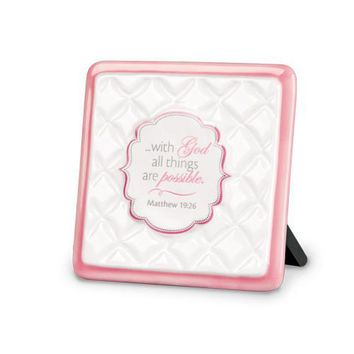 "Scripture Gifts - ""With God All Things Are Possible"" Plaque"
