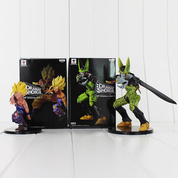 2pcs/Lot 2016 Showcase Dragon Ball Z Kai Gohan & Cell Banpresto Dramatic PVC Action Figure Toy Collective Model Doll 12cm-17cm