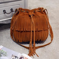 Crossbody Sling Summer Tassel Purse Suede Fringe Big Cool Female Bolsa Designer Motorcycle