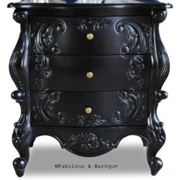 Fabulous and Baroque — Night's Dream Side Table - Black
