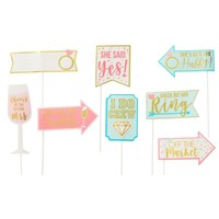 Sparkling Pink Bridal Shower Photo Booth Kit 21pc   Party City