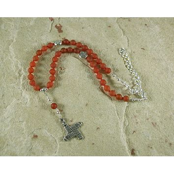 Brigid Necklace in Carnelian (Adjustable): Irish Celtic Goddess of Poetry, Crafts and Healing