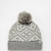 Jack Wills Thurlow Fair Isle Pom Pom Hat