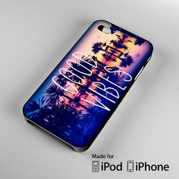 Good Vibes2 A1524 iPhone 4S 5S 5C 6 6Plus, iPod 4 5, LG G2 G3, Sony Z2 Case
