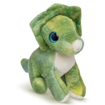 "Single Triceratops Mini 4"" Small Stuffed Animal, Dinosaur Animal Toy, Dino Party Favor for Kids"