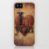 I Love You iPhone & iPod Case by Paul Stickland for StrangeStore