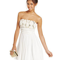 Speechless Juniors Dress, Strapless Rosette A-Line - Juniors Dresses - Macy's