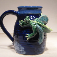 Green Dragon in the Clouds Mug ... COOL ...... e48