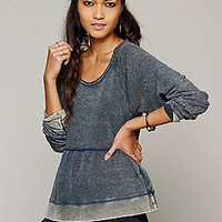 We The Free  Washed Peplum Pullover at Free People Clothing Boutique