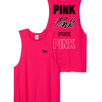 Raw-Edge Muscle Tank - PINK - Victoria's Secret