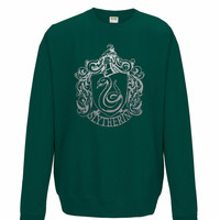 Harry Potter Slytherin unisex Sweatshirt, mens and ladies Sweat Shirt