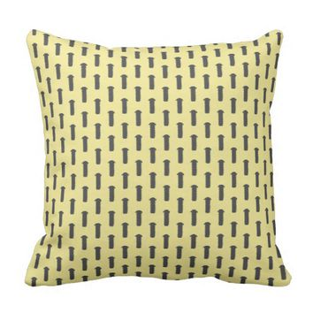 Funky Tools Bolt Pattern Throw Pillow Cushion