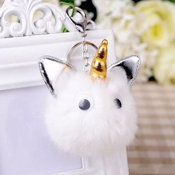 Unicorn Horn Horse Key chain Key Buckle Ring Bag Charm Pendant Purse Décor Gift
