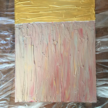 Gold Wall Art, Impasto Painting, Acrylic Painting, Abstract Art, Red Painting, Silver Wall Art, Original Painting, Modern Art, 18x24 Canvas