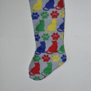 ON SALE Cat stocking, cat gift, kitten stocking, Pet Christmas stocking, Stockings for cats, cat Christmas stocking, Gift for a cat stocking