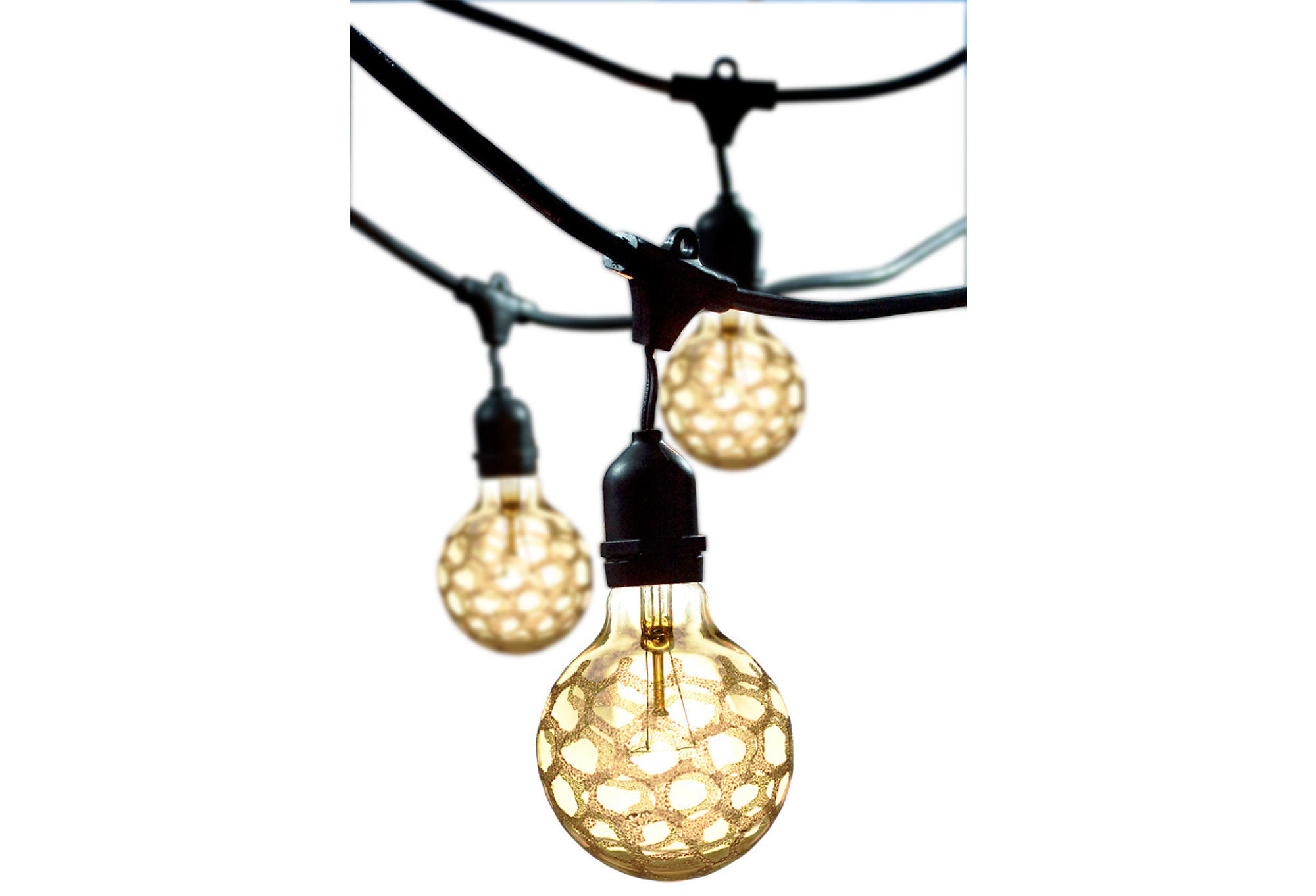 Marble Outdoor String Lights Kit, Amber, from One Kings Lane