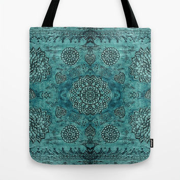 Boho Tote Bag, teal tote bag, floral lace bag, bohemian tote bag, large tote, teal bag, turquoise tote bag, gift for her, stylish bag