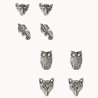 Feather & Wildlife Earring Set