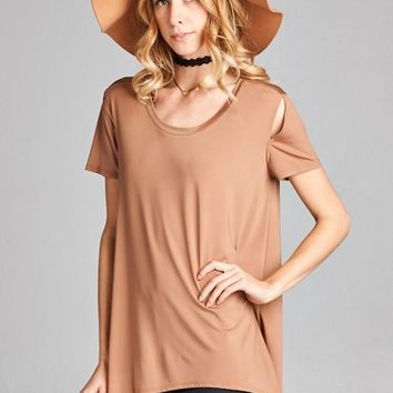 Loose Fit Round Neck Short Sleeve top