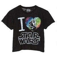 Womens Darth Vader I Heart Star Wars Burnout Tee Shirt