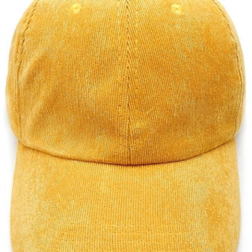 Corduroy Weekend Baseball Dad Hat