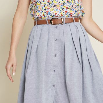 Living the Dream Skirt in Grey