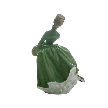 "Vintage Royal Doulton Figurine ""Grace"" HN2318 Porcelain Skater Collectible by Mary Nicol Mint Condition Hand Painted"