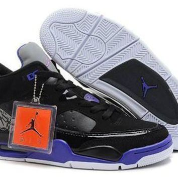 Cheap Air Jordan Son Of Mars Low Shoes Black Grape White