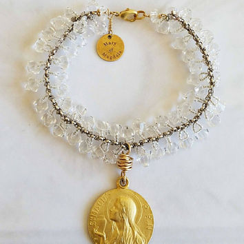 Mary of Magdala Crystal Bracelet