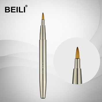 BEILI Silver Retractable Makeup Brush