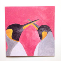 Penguin Bird Card, Greetings Card