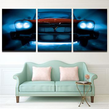 PENGDA Wall Art Canvas Painting Frames Modular Wall Pictures For Room Home Decor 3 Panel Red Luxury Sports Car Poster Pictures