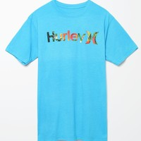 Hurley One & Only Tropics T-Shirt - Mens Tee - Blue