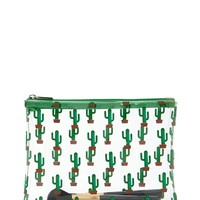 Cactus Print Makeup Bag