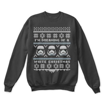 AUGUAU I'm Dreaming Of A White Christmas Star Wars Ugly Sweater